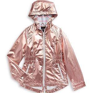 F.O.G. by London Fog Pink Metallic Hooded Jacket